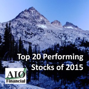 Top 20 Performing Stocks of 2015