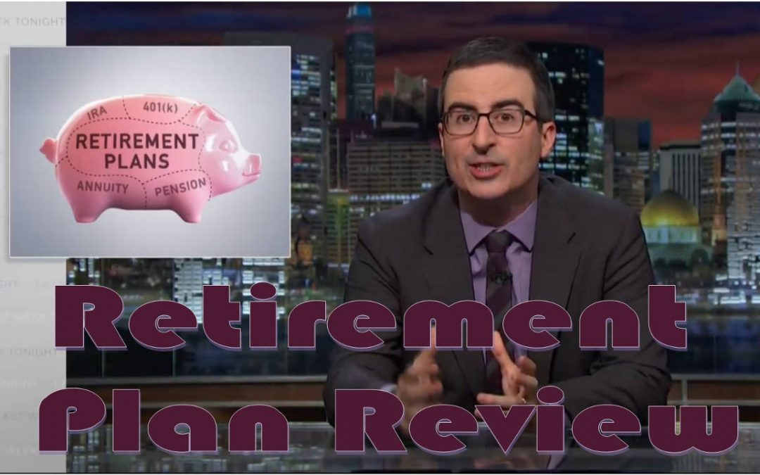 John Oliver Last Week Tonight Retirement Plan